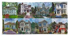 Historical Homes Beach Towel