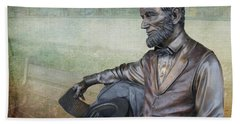 History - Abraham Lincoln Contemplates -  Luther Fine Art Beach Towel