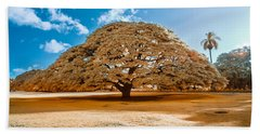 Hitachi Tree In Infrared Beach Towel