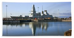 Hms Dauntless Beach Towel