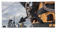 Hms Diamond And Hms Victory Beach Towel