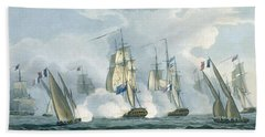 Hms Sirius, Captain Rowse Engaging Beach Towel