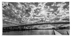 Hoan Bridge Peak Thru Beach Towel