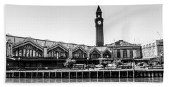 Hoboken Terminal Tower Beach Towel
