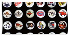 Hockey League Logos Bottle Caps Beach Sheet