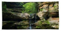Hocking Hills Waterfall 1 Beach Towel