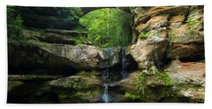 Hocking Hills Waterfall 1 Beach Towel