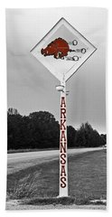 Hog Sign - Selective Color Beach Towel