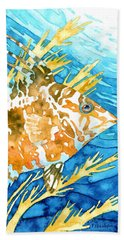 Hogfish Portrait Beach Towel