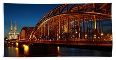 Beach Sheet featuring the photograph Hohenzollern Bridge by Mihai Andritoiu