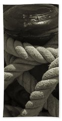 Hold On Black And White Sepia Beach Towel