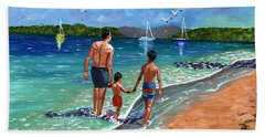 Holding Hands Beach Sheet by Laura Forde