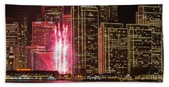 Holiday Lights Beach Towel by Kate Brown