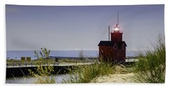 Holland Harbor Light  Beach Towel