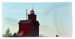 Holland Harbor Light Vignette Beach Towel