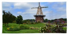 Holland Michigan Windmill Landscape Beach Towel