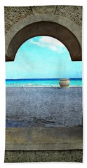 Hollywood Beach Arch Beach Sheet by Joan  Minchak