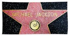 Hollywood Walk Of Fame Michael Jackson 5d28974 Beach Towel