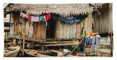 Home In Shanty Town Beach Towel