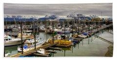 Homer Alaska Pier Beach Towel