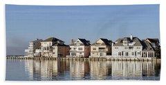 Homes On The Bay Beach Towel
