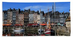 Honfleur France Beach Towel