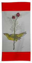 Hooded Warbler Beach Sheet by Kathy Marrs Chandler