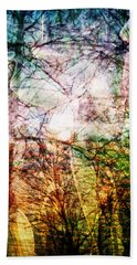 Beach Towel featuring the mixed media Hoosier Country Opus 1 by Sandy MacGowan