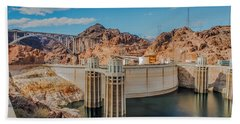 Hoover Dam Reservoir Beach Towel