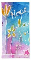 Hope Love Joy Beach Towel