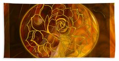 Hope Springs Eternal Abstract Healing Art Beach Towel