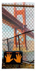 Hoppers Hands Beach Towel by Jerry Fornarotto