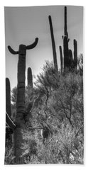 Horn Saguaro Cactus Beach Towel