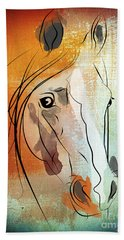 Horse 3 Beach Towel by Mark Ashkenazi