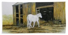 Horse And Barn Beach Towel