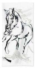 Horse- Andalusian Angel Beach Towel