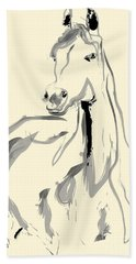 Horse - Arab Beach Towel