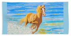 Beach Towel featuring the painting Horse Bright by Phyllis Kaltenbach