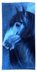 Horse - Carol In Indigo Beach Towel by Go Van Kampen