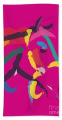 Horse - Colour Me Strong Beach Towel by Go Van Kampen