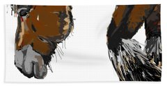 horse - Guus Beach Towel