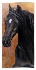 Beach Towel featuring the painting Horse - Lucky Star by Go Van Kampen