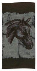 Horse Portrait Beach Sheet
