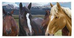 Horse Talk Beach Towel