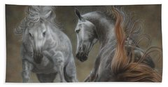 Horseplay II Beach Towel
