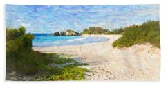 Horseshoe Bay In Bermuda Beach Towel