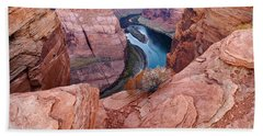 Beach Towel featuring the photograph Horseshoe Bend At Dawn by Mae Wertz