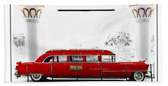 Horseshoe Fleetwood Cadillac Limousine Beach Towel