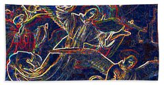 Beach Towel featuring the digital art Host Of Angels By Jrr by First Star Art