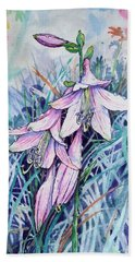 Hosta's In Bloom Beach Towel